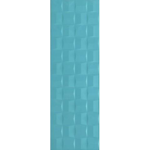 POTTERY TURQUOISE STRUTT. CUBE 3D 25X76