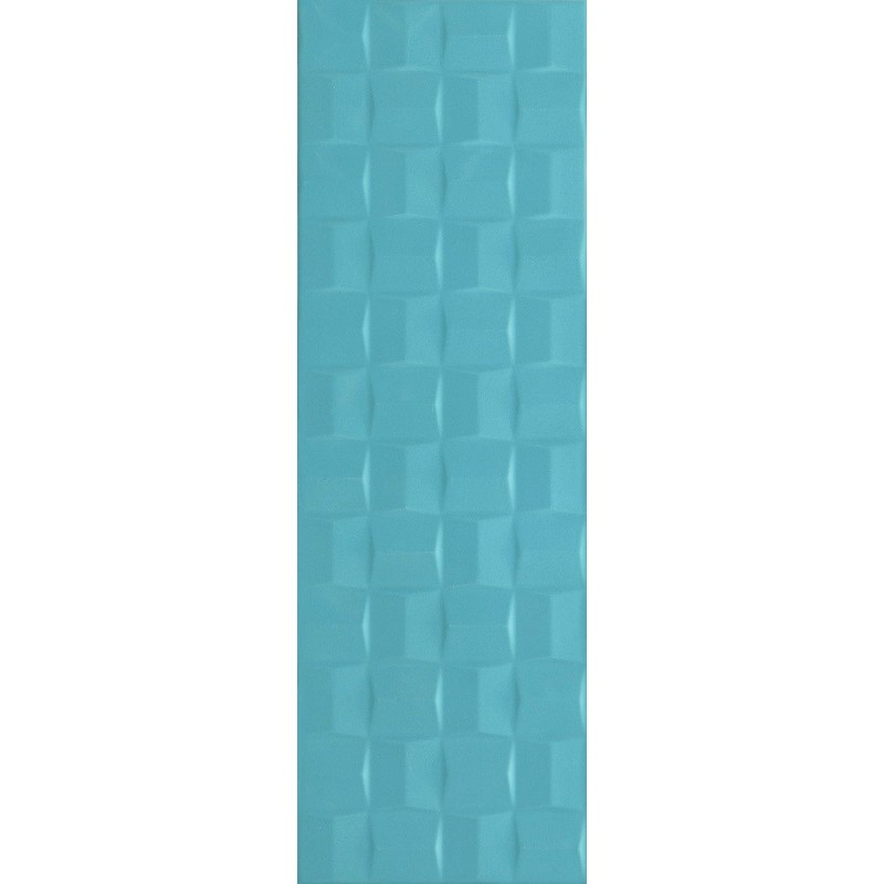 MARAZZI POTTERY TURQUOISE STRUTT. CUBE 3D 25X76