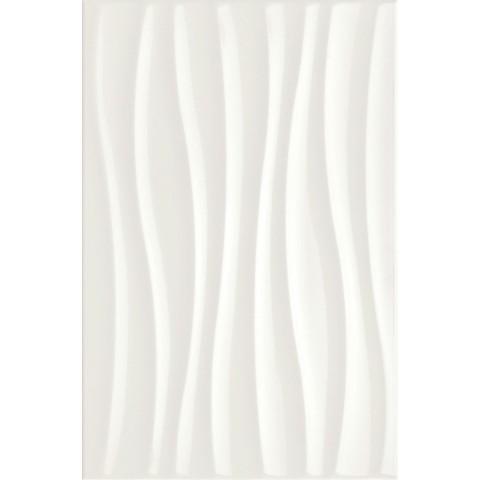 MARAZZI CHROMA WHITE STRUTTURA TIDE 3D 25X38