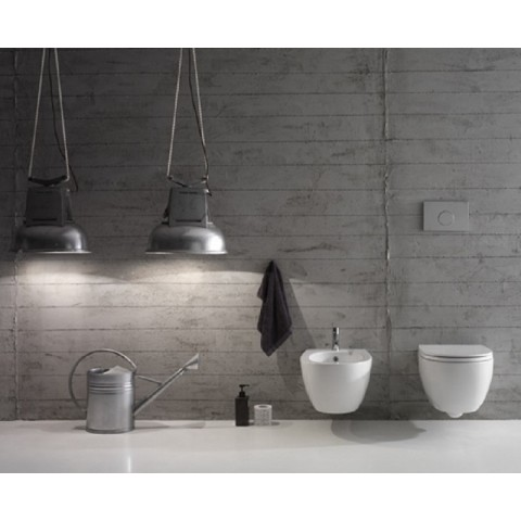 4ALL SET VASO 54.36 S/BRIDA C/COPRIVASO SOFTCLOSE+BIDET SOSPESO 54.36