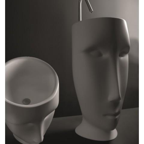 KERASAN ARTWORK LAVABO FREESTANDING MOLOCO BIANCO MATT