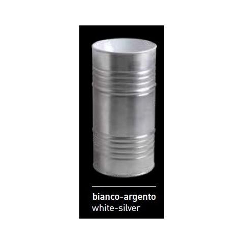 ARTWORK LAVABO FREESTANDING BARREL BIANCO/ARGENTO