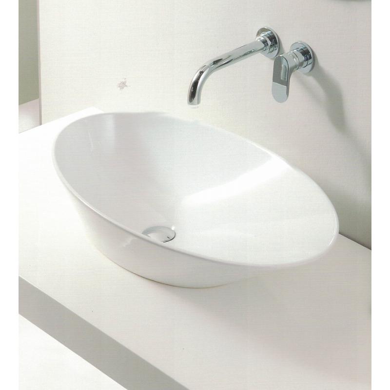 Piastrelle Ceramica Scheda Tecnica.San Marciano Ceramiche Goccia Lavabo Da Appoggio 70x40 Bianco Lucid