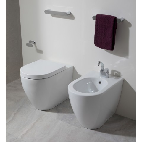 FLAMINIA LINK SET BACK TO WALL VASO GO CLEAN C/COPRIVASO SLIM SOFTCLOSE + BIDET
