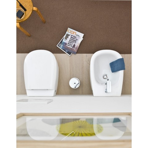 AZULEY SET VASO C/COPRIVASO SOFT CLOSE + BIDET SOSPESO
