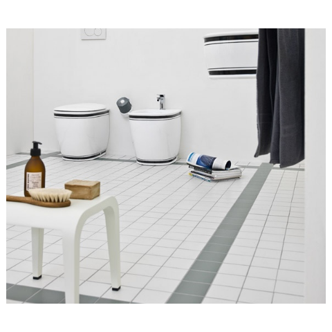 AZULEY SET VASO C/COPRIVASO SOFT CLOSE + BIDET A TERRA FILO PARETE