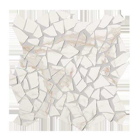FAP CERAMICHE ROMA DIAMOND CALACATTA SCHEGGE GRES MOSAICO ANTICATO 30X30