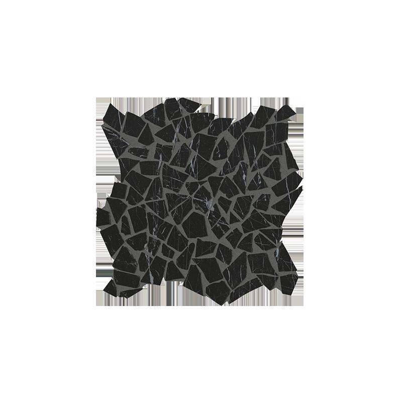 FAP CERAMICHE ROMA DIAMOND NERO REALE SCHEGGE GRES MOSAICO 30X30