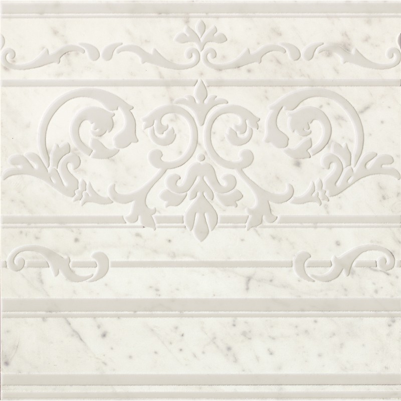 FAP CERAMICHE ROMA DIAMOND CARPET CARRARA BORDER INS. 60X60 RETT