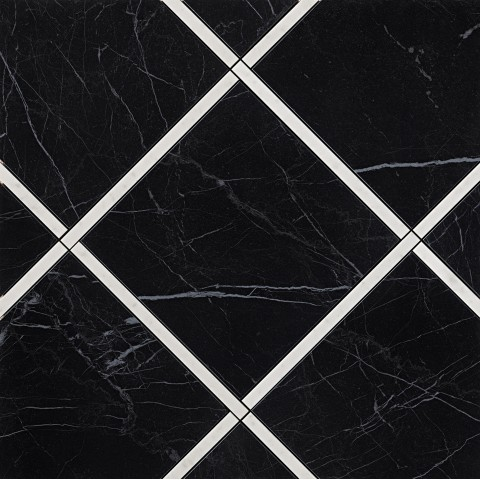 ROMA DIAMOND INCROCI NERO REALE E CARRARA INS. 60X60 RETT