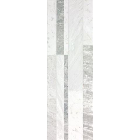 FAP CERAMICHE ROMA DIAMOND 25 DECO WHITE BRILLANTE 25X75