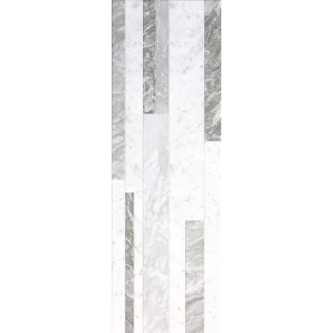 FAP CERAMICHE ROMA DIAMOND 25 DECO WHITE BRILLANTE 25X75