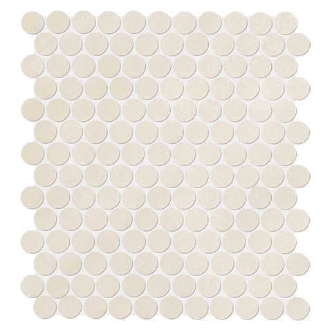 COLOR NOW BEIGE ROUND MOSAICO 29.5X32.5