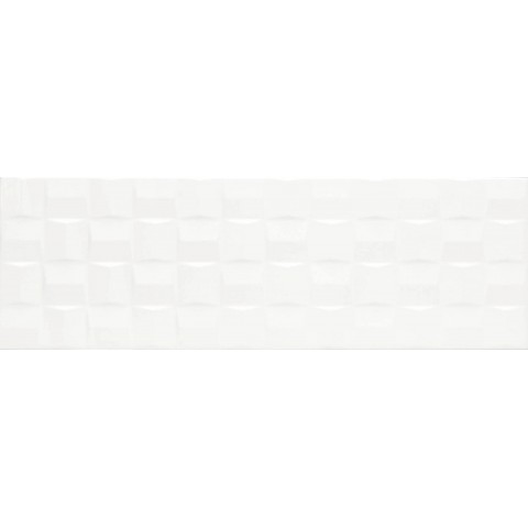 MARAZZI ABSOLUTE WHITE STRUTT. CUBE 3D LUX 25X76