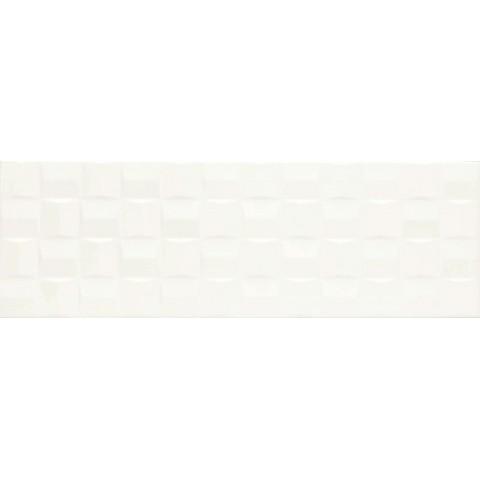 MARAZZI ABSOLUTE WHITE STRUTT. CUBE 3D SATINATO 25X76