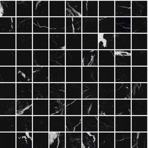 ALLMARBLE ELEGANT BLACK MOSAICO 30X30