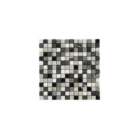 50% DECOR NERO 31x31 MIX TESSERE 2X2