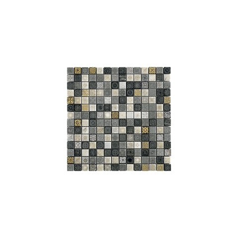 AREZIA FULL DECOR NERO METAL 31x31 MIX TESSERE 2X2