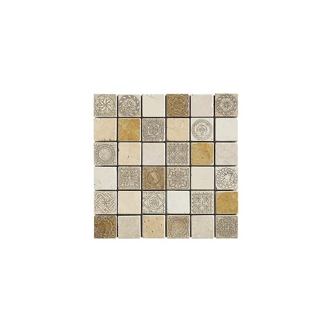 50% DECOR BEIGE 31X31 MIX TESSERE 4,8X4,8