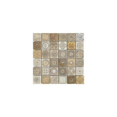 FULL DECOR BEIGE METAL 31X31 MIX TESSERE 4,8X4,8