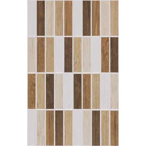 WHITE AND WOOD MURETTO BEIGE 25X40