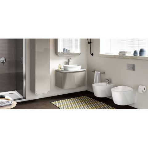 IDEAL STANDARD DEA SET VASO C/SISTEMA AQUABLADE C/COPRIVASO SLIM SOFT CLOSE + BIDET SOSPESO
