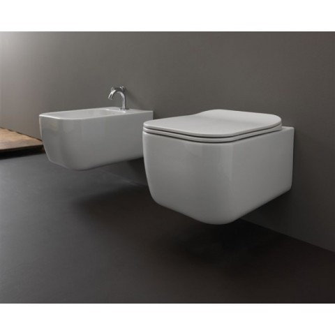 BRIO SET VASO S/BRIDA + COPRIVASO SLIM SOFT CLOSE + BIDET SOSPESI