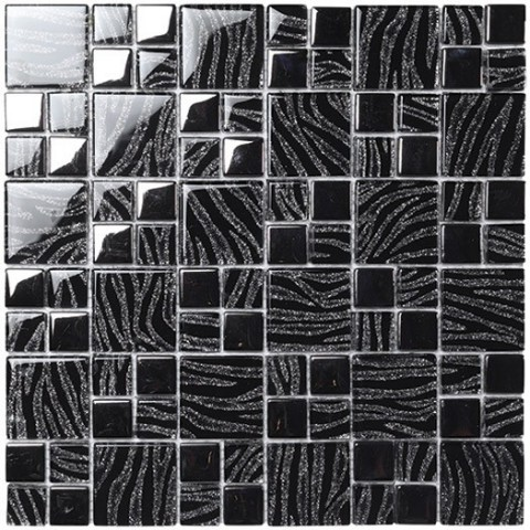 BOXER MOSAICO DREAM BLACK SILVER 29.8X29.8