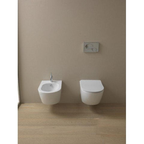LIKE SET VASO S/BRIDA C/COPRIVASO SLIM SOFT CLOSE + BIDET SOSPESO