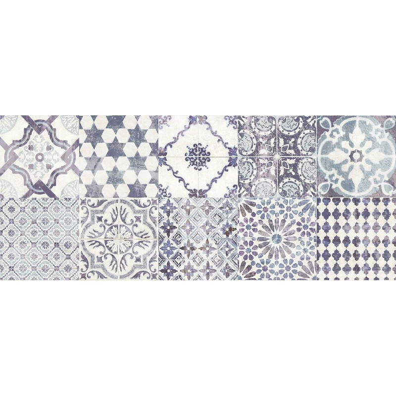 PAUL CERAMICHE COUNTY WHITE/BLU 25X60