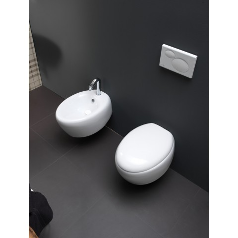 GSG TOUCH SET VASO S/BRIDA C/COPRIVASO SOFT CLOSE + BIDET SOSPESO