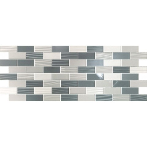 MOSAICO LINEUP GREY 3D 20X50