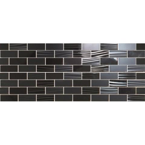 MOSAICO LINEUP BLACK 3D 20X50