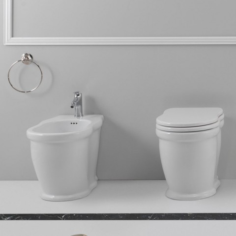 GSG TIME SET VASO C/COPRIVASO SOFT CLOSE + BIDET A TERRA FILO PARETE
