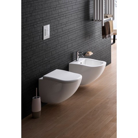 SANITARI CIELO FLUID SET VASO C/COPRIVASO SOFT CLOSE + BIDET SOSPESO