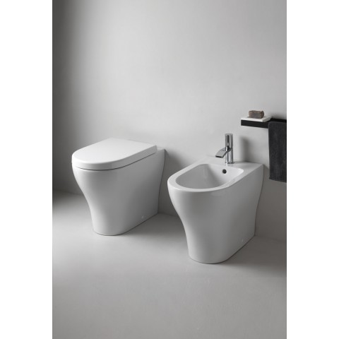 SANITARI CIELO ENJOY SET VASO C/COPRIVASO SLIM SOFT CLOSE + BIDET A TERRA FILO PARETE