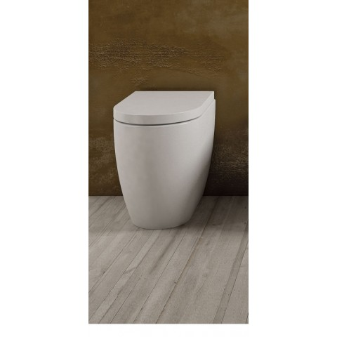 SMILE VASO C/COPRIVASO SLIM SOFT CLOSE A TERRA FILO PARETE