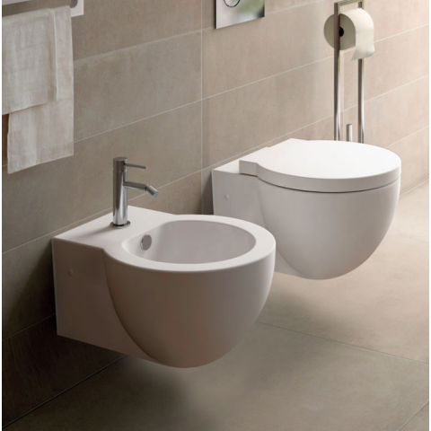 EASY EVO SET VASO C/COPRIVASO SOFT CLOSE + BIDET SOSPESI