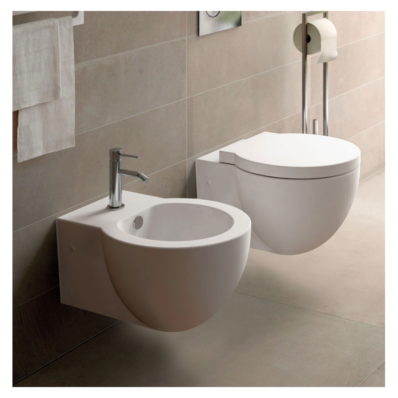 SANITARI CIELO EASY EVO SET VASO C/COPRIVASO SOFT CLOSE + BIDET SOSPESI