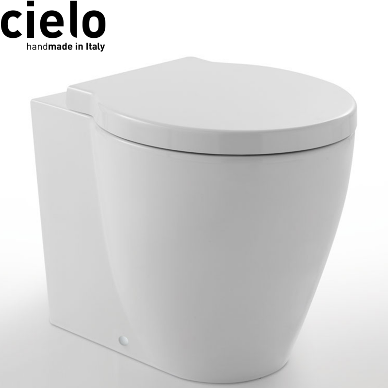 SANITARI CIELO EASY EVO VASO C/COPRIVASO SOFT CLOSE A TERRA FILO PARETE