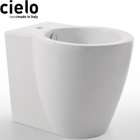 SANITARI CIELO EASY EVO SET VASO C/COPRIVASO SOFT CLOSE + BIDET A TERRA FILO PARETE