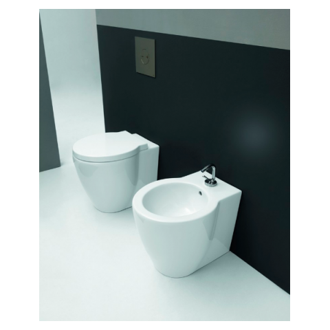 EASY EVO SET VASO C/COPRIVASO SOFT CLOSE + BIDET A TERRA FILO PARETE