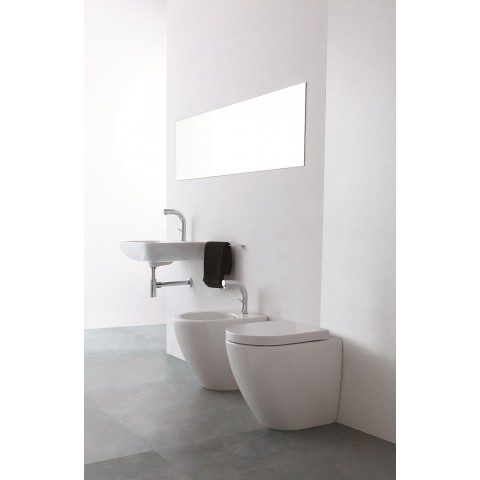 ALTHEA COVER SET VASO RIMLESS + BIDET + COPRIVASO SLIM SOFT CLOSE A SGANCIO RAPIDO FILO PARETE