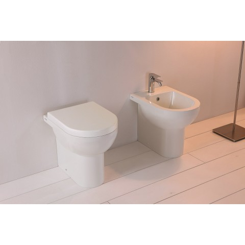 ALTHEA SOUL SET VASO RIMLESS + BIDET + COPRIVASO SLIM SOFT CLOSE A TERRA