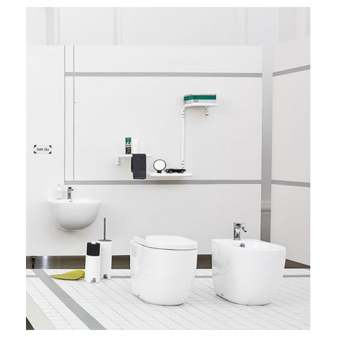 FILE 2.0 SET VASO S/BRIDA C/COPRIVASO SLIM SOFT CLOSE + BIDET A TERRA FILO PARETE