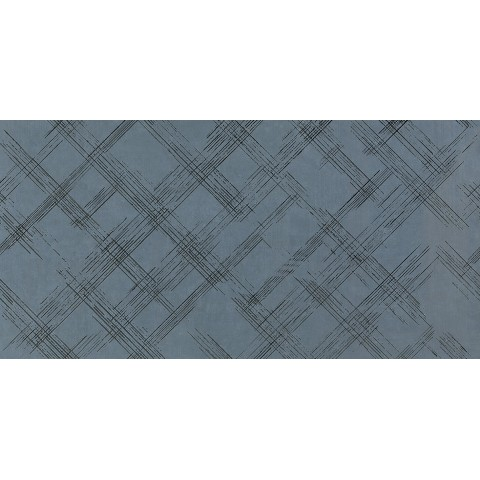 FAP CERAMICHE BLOOM METAL BLUE SILVER INSERTO 80X160 RETTIFICATO