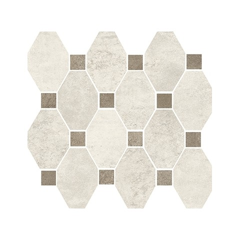 MARINER BOSTON MOSAICO OTTAGONA WHITE SU RETE 30X34
